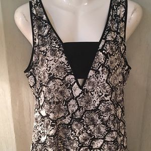NWOT Express Snake Skin dress tank top. Size large
